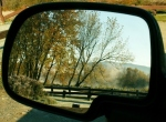 Fall in rear-view mirror