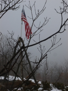 Flag at summit