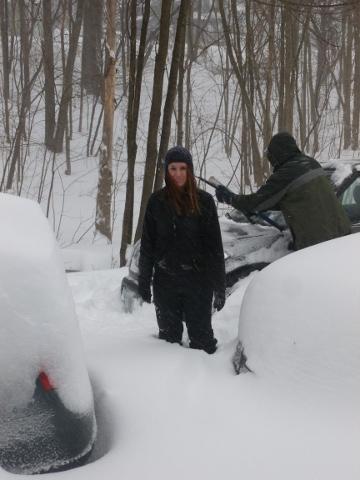 snow more than knee deep