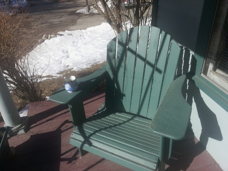 chair on porch