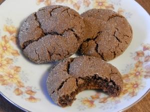 ginger-molasses gluten free cookies
