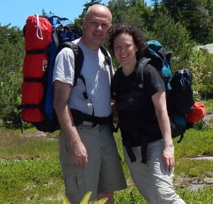 "Backpacking with ""M"" looking healthier than I have in 3 years.  Yay for miracles!"