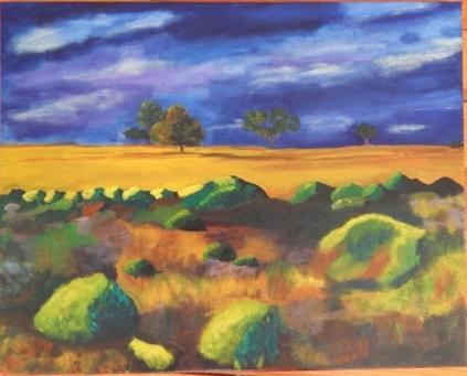 Austrailian landscape. Acrylic. Still in process!